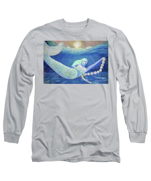 Pearl Of The Sea Long Sleeve T-Shirt by Lyric Lucas