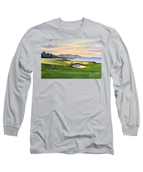 Pebble Beach Golf Course Long Sleeve T-Shirt by Bill Holkham
