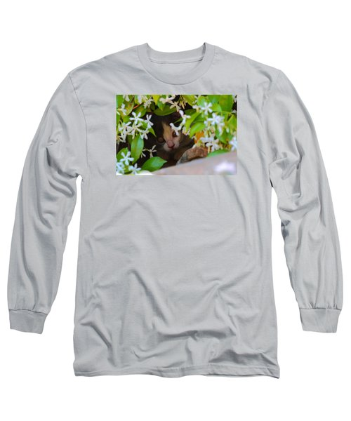 Long Sleeve T-Shirt featuring the photograph Peek-a-boo by Richard Patmore
