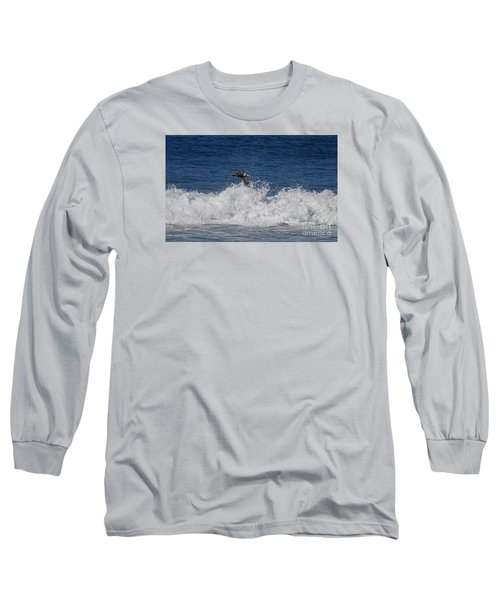 Pelican And Waves Long Sleeve T-Shirt