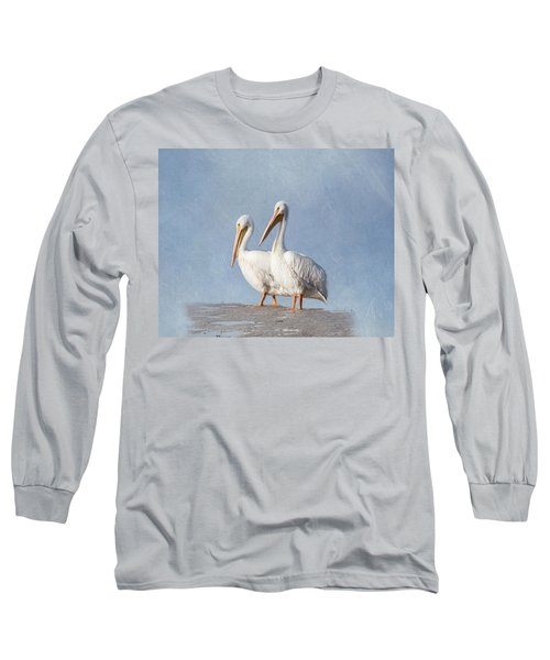 Long Sleeve T-Shirt featuring the photograph Pelican Duo by Kim Hojnacki