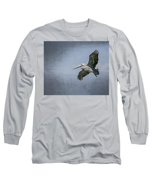 Long Sleeve T-Shirt featuring the photograph Pelican Flight by Carolyn Marshall