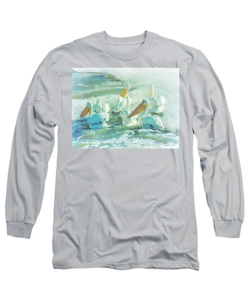 Pelicans On The Tide Long Sleeve T-Shirt