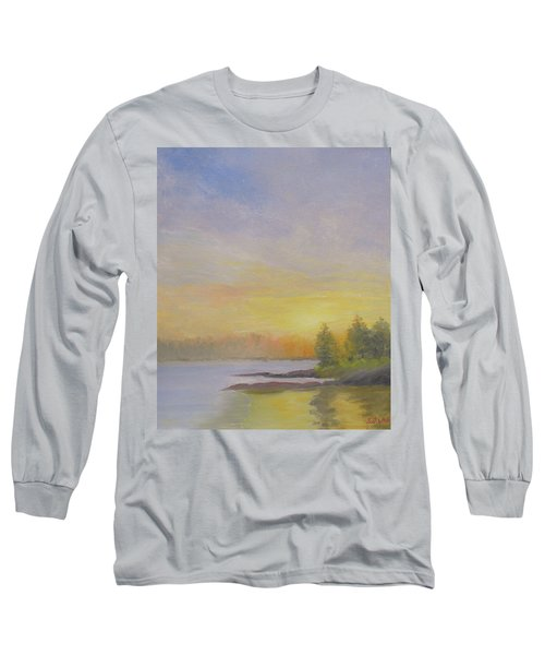 Pemaquid Beach Sunset Long Sleeve T-Shirt