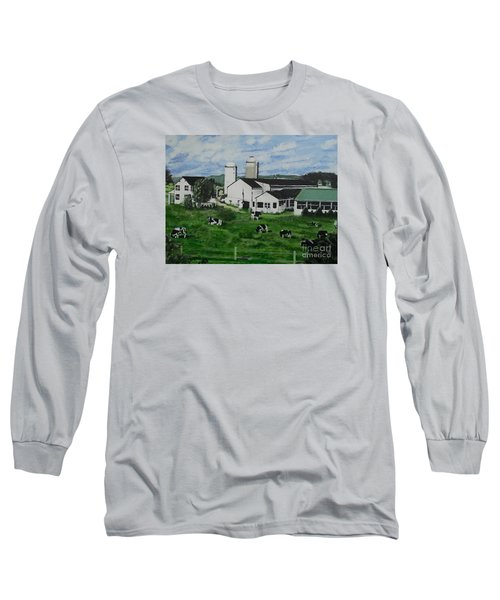 Pennsylvania Holstein Dairy Farm  Long Sleeve T-Shirt