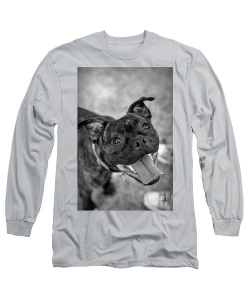 Penny - Dog Portrait Long Sleeve T-Shirt