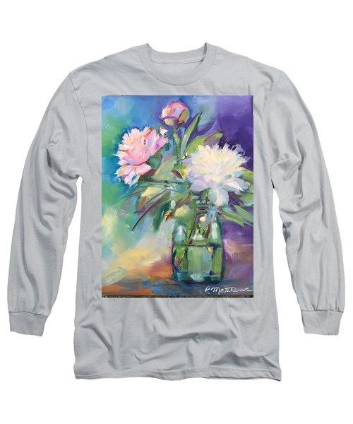 Peonies In Jar Long Sleeve T-Shirt