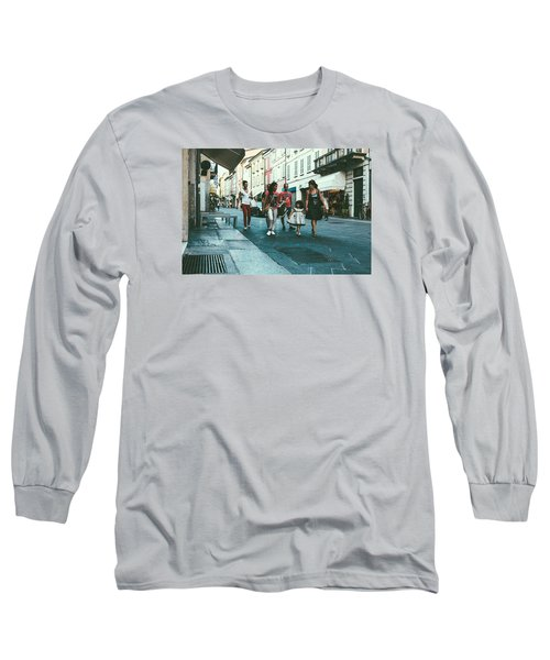 People Long Sleeve T-Shirt by Cesare Bargiggia