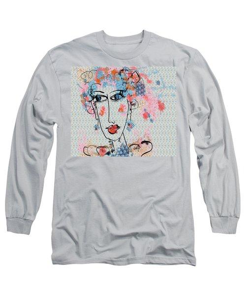 Long Sleeve T-Shirt featuring the digital art Peppa by Sladjana Lazarevic