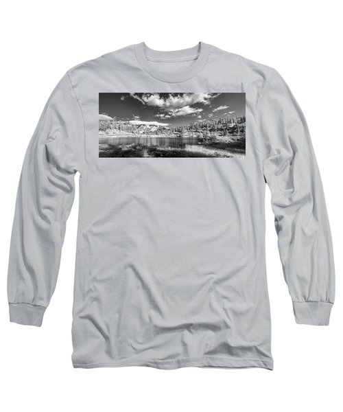 Long Sleeve T-Shirt featuring the photograph Perfect Lake At Mount Baker by Jon Glaser