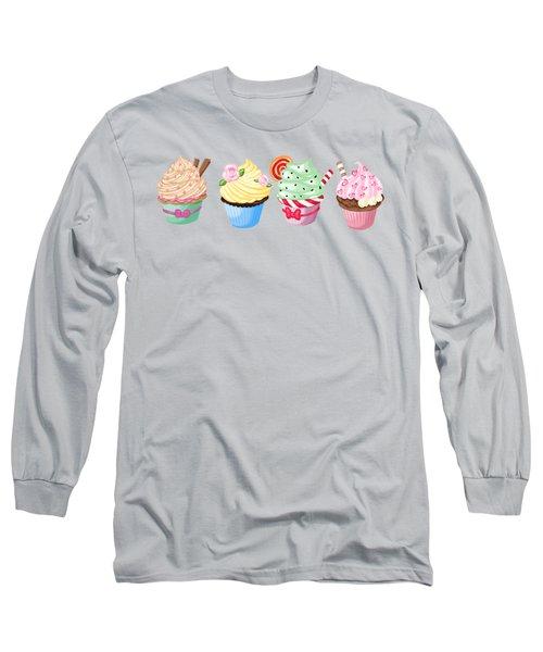 Perfectly Pretty Cupcake Parade Long Sleeve T-Shirt