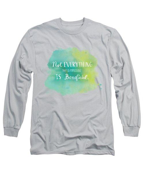 Permissible Long Sleeve T-Shirt by Nancy Ingersoll