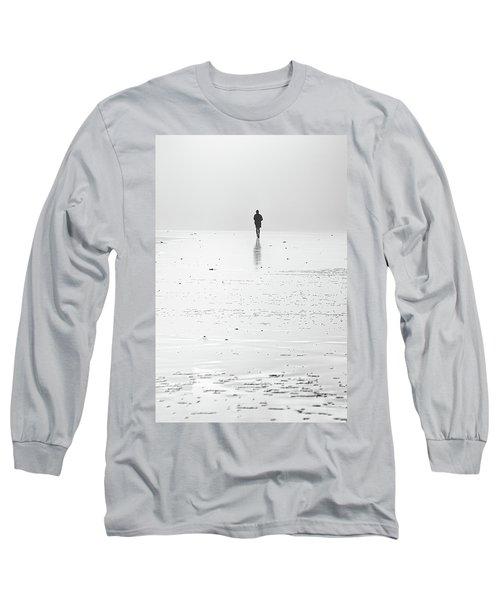 Person Running On Beach Long Sleeve T-Shirt