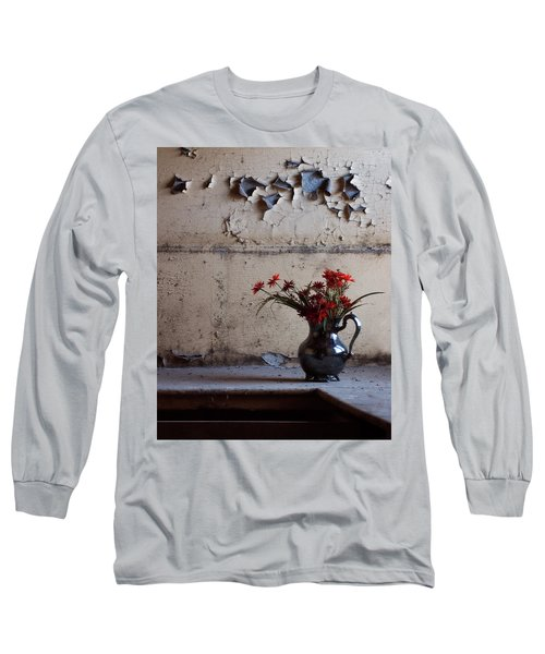 Petals And Peeling Paint - Preston Castle Long Sleeve T-Shirt