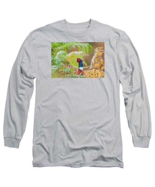 Pheasant Portrait Long Sleeve T-Shirt