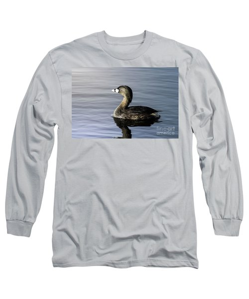 Pied-billed Grebe Long Sleeve T-Shirt by Robert Frederick