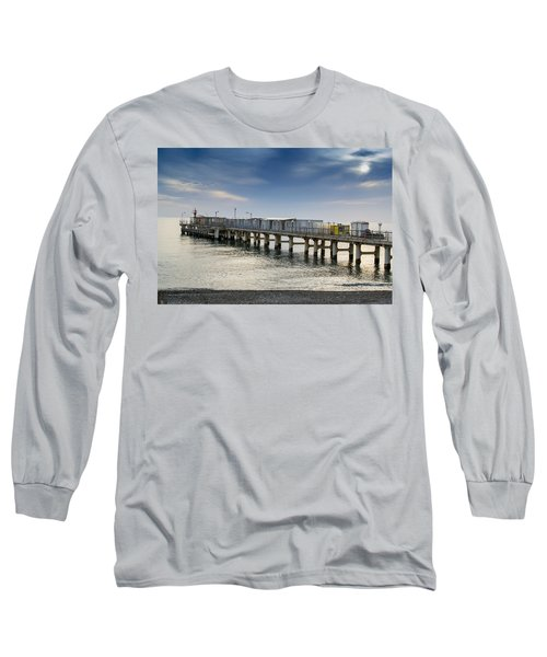Pier At Sunset Long Sleeve T-Shirt by John Williams