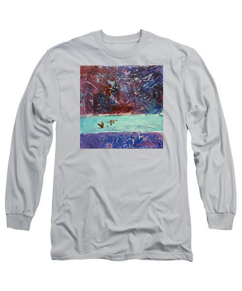 Long Sleeve T-Shirt featuring the painting Pin Tails by David  Maynard