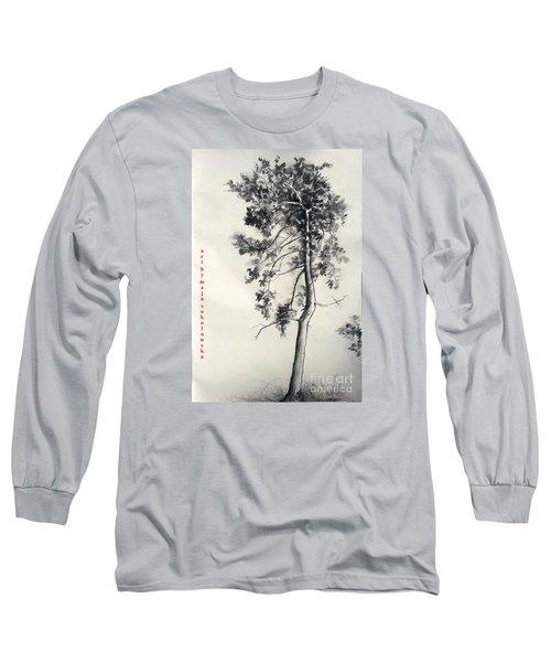 Pine Drawing Long Sleeve T-Shirt