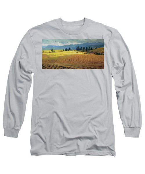 Long Sleeve T-Shirt featuring the painting Pine Grove by Steve Henderson