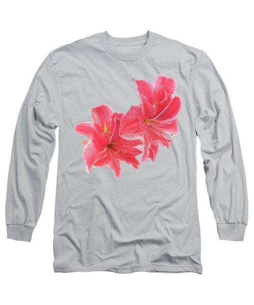 Pink Amaryllis At Sunset Long Sleeve T-Shirt
