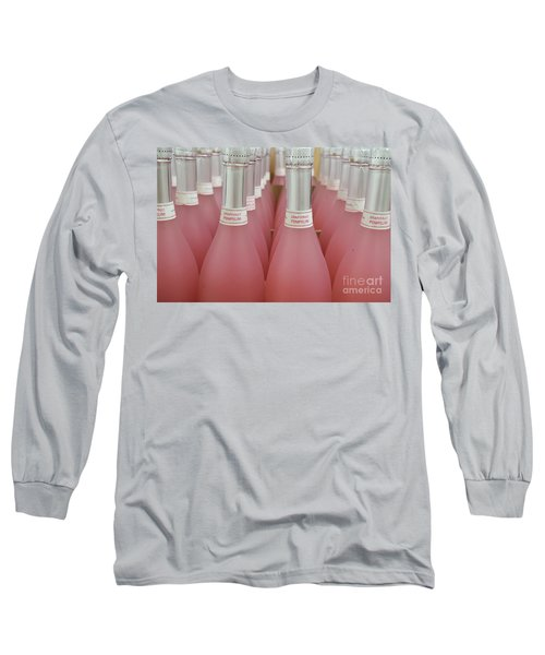 Pink And Gray Long Sleeve T-Shirt