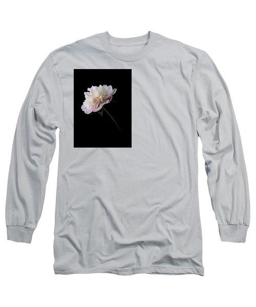 Pink And White Peony Long Sleeve T-Shirt