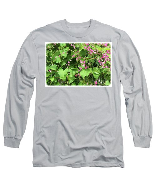 Long Sleeve T-Shirt featuring the photograph Pink Flowering Vine1 by Megan Dirsa-DuBois