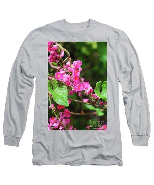 Pink Flowering Vine3 Long Sleeve T-Shirt