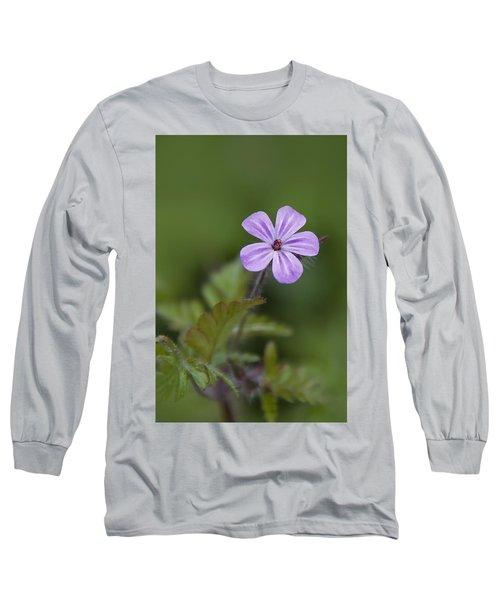 Pink Phlox Wildflower Long Sleeve T-Shirt