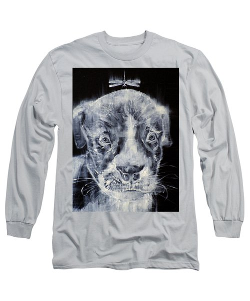 Pit Bull Cub And Dragonfly Long Sleeve T-Shirt