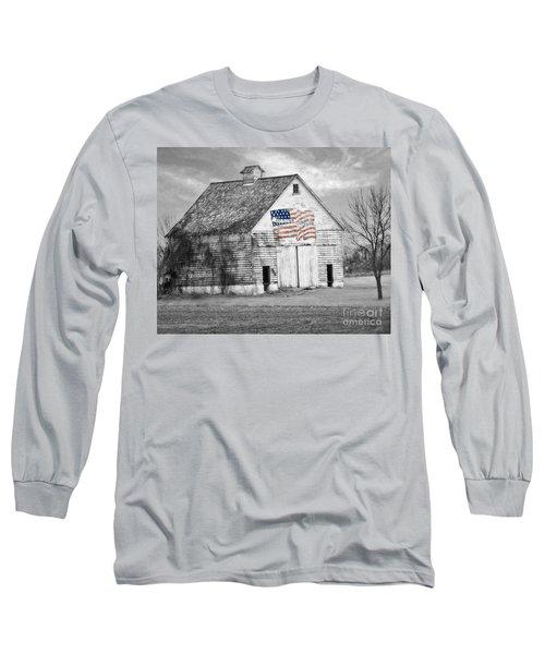 Pledge Of Allegiance Crib Long Sleeve T-Shirt by Kathy M Krause