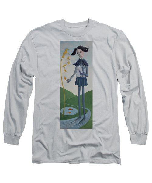 Long Sleeve T-Shirt featuring the painting Plume by Tone Aanderaa