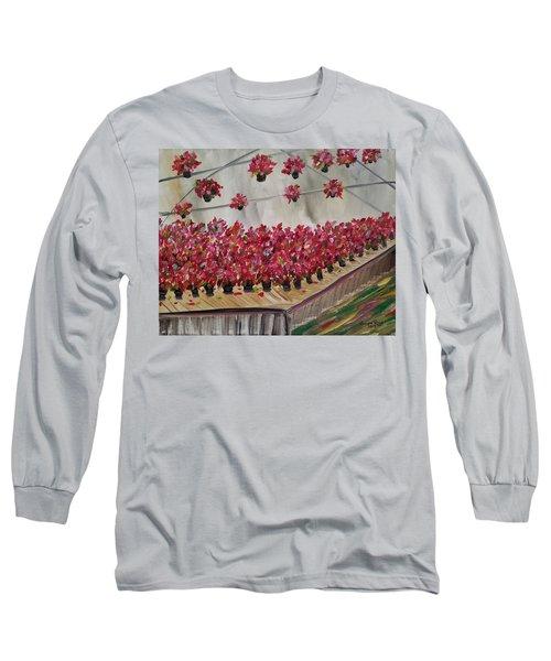 Poinsettia Greenhouse Long Sleeve T-Shirt