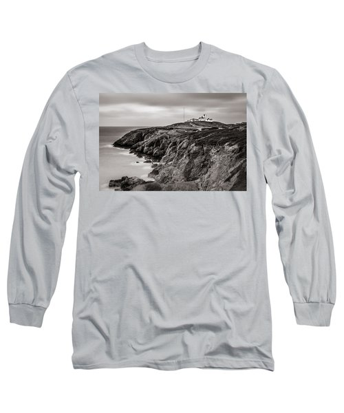 Point Lynas Lighthouse In Llaneilian On Anglesey Long Sleeve T-Shirt