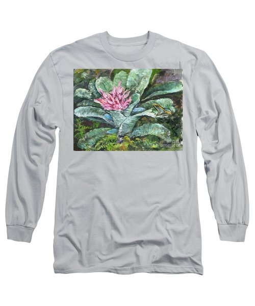 Poison Dart Frog On Bromeliad Long Sleeve T-Shirt