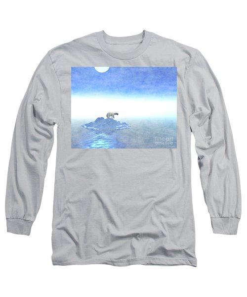 Long Sleeve T-Shirt featuring the digital art Polar Bear On Iceberg by Phil Perkins