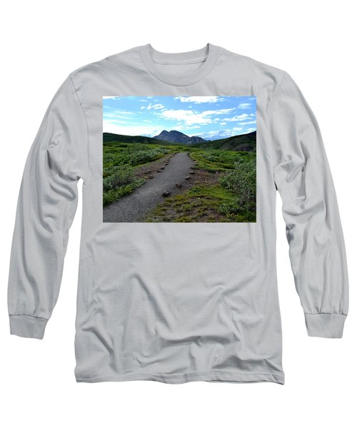 Polychrome Pass Trail, Denali Long Sleeve T-Shirt by Zawhaus Photography