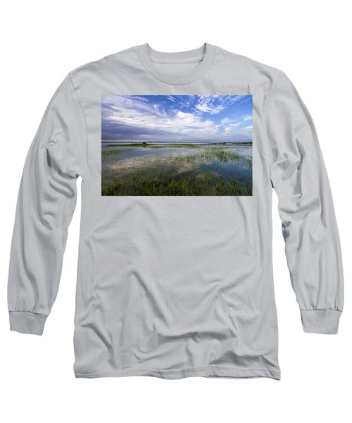 Ponquogue Bridge Springtime Long Sleeve T-Shirt
