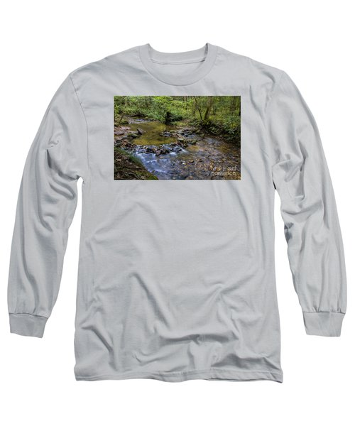 Pool At Cooper Creek Long Sleeve T-Shirt by Barbara Bowen