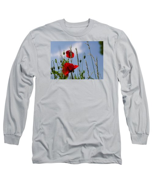 Poppies In The Skies Long Sleeve T-Shirt