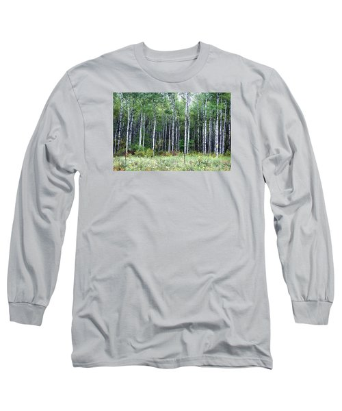 Long Sleeve T-Shirt featuring the photograph Popple Trees by Susan Crossman Buscho