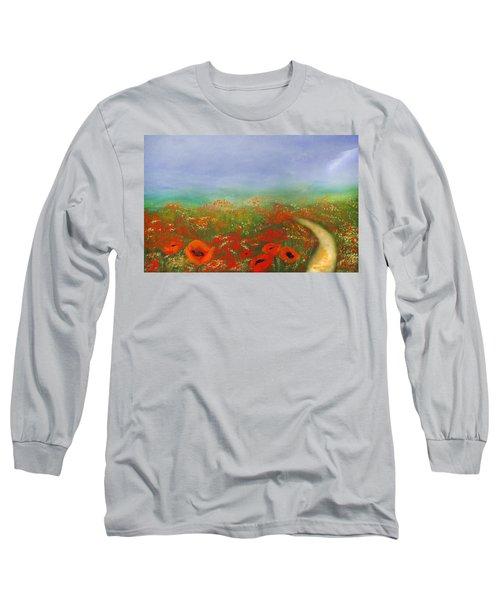 Poppy Field Impressions Long Sleeve T-Shirt