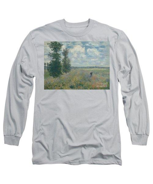 Poppy Fields Near Argenteuil, 1875 Long Sleeve T-Shirt