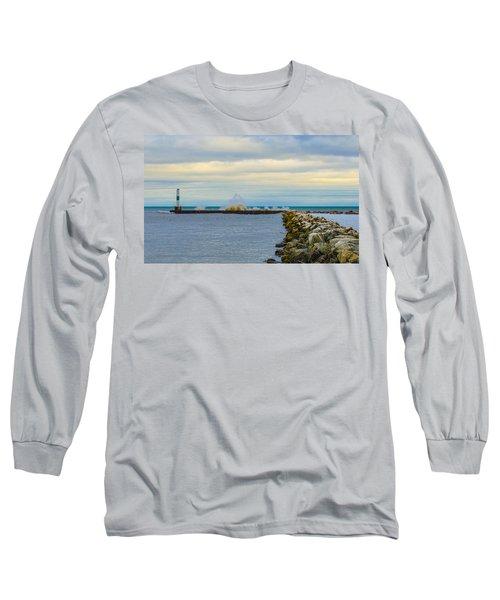 Port Washington Light 1 Long Sleeve T-Shirt by Deborah Smolinske