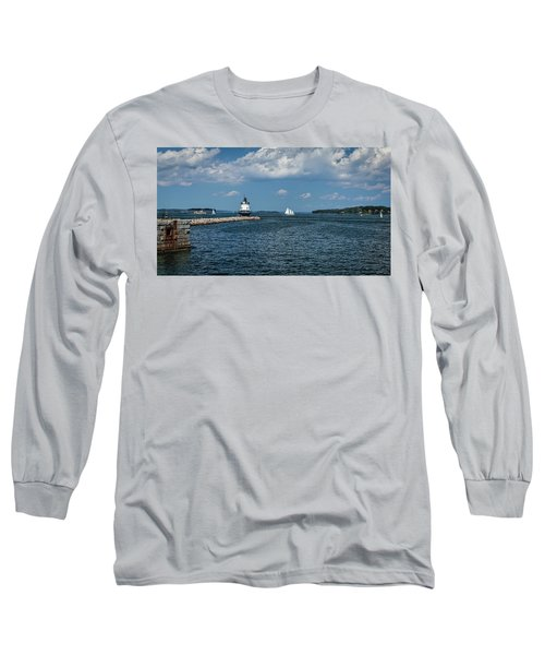 Portland Harbor, Maine Long Sleeve T-Shirt
