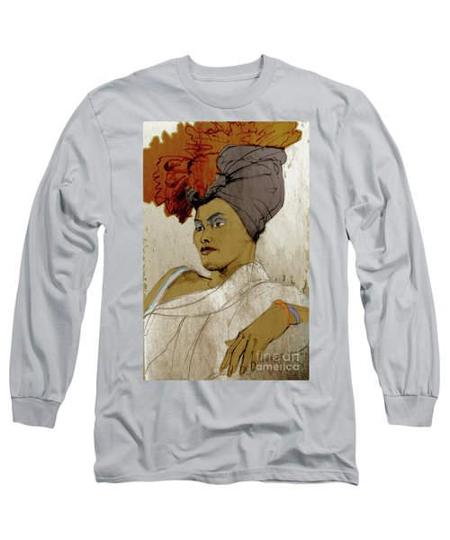 Portrait Of A Caribbean Beauty Long Sleeve T-Shirt
