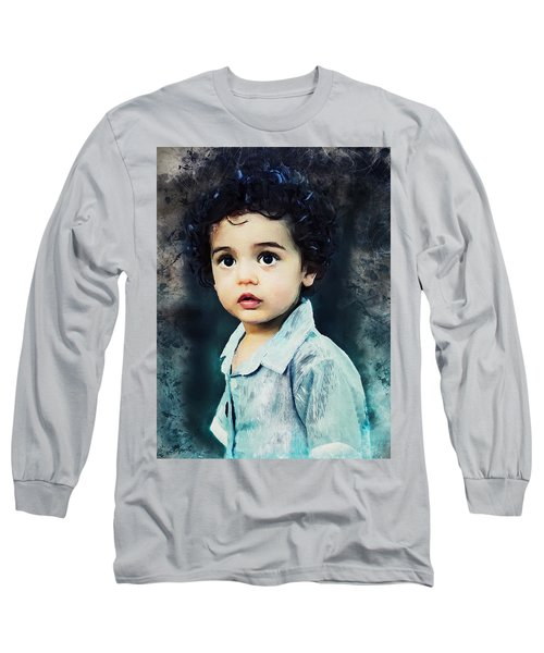 Portrait Of A Child Long Sleeve T-Shirt