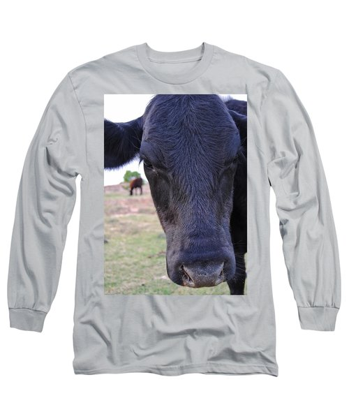 Portrait Of A Cow Long Sleeve T-Shirt
