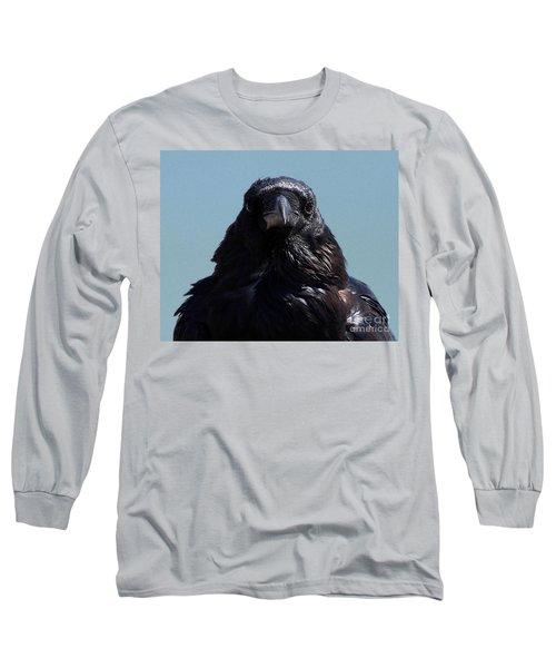 Portrait Of A Raven Long Sleeve T-Shirt